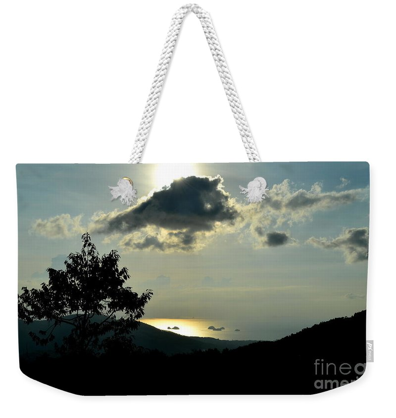 Michelle Meenawong Weekender Tote Bag featuring the photograph Sunset At Five Islands by Michelle Meenawong