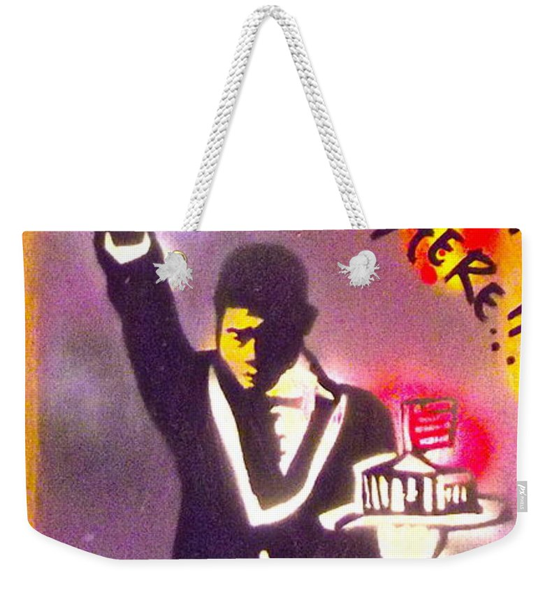 Hip Hop Weekender Tote Bag featuring the painting The Butler From The Bottom by Tony B Conscious
