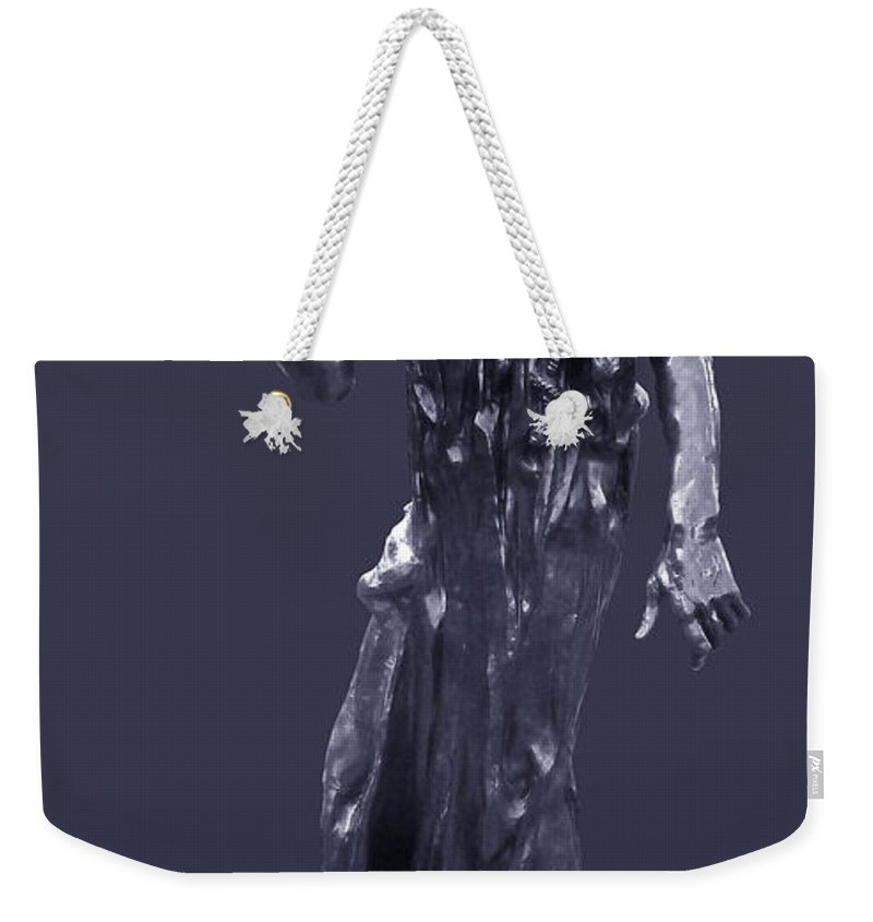 1889 Weekender Tote Bag featuring the photograph The Sculpture Of Auguste Rodin by Xueling Zou