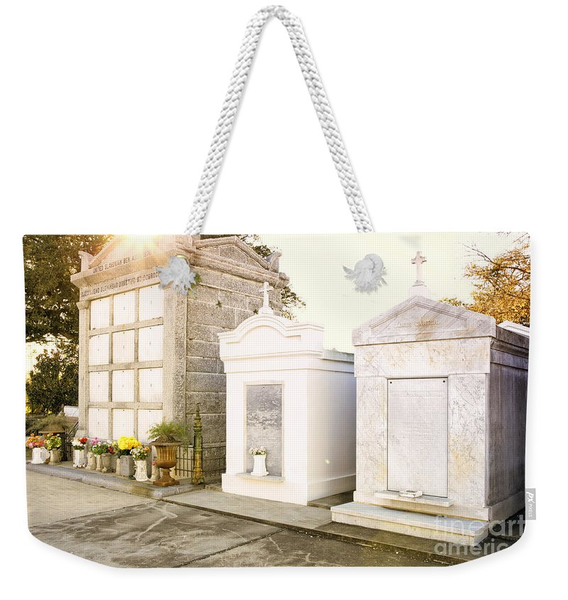 Tombstones Weekender Tote Bag featuring the photograph  Tombstones by Erika Weber