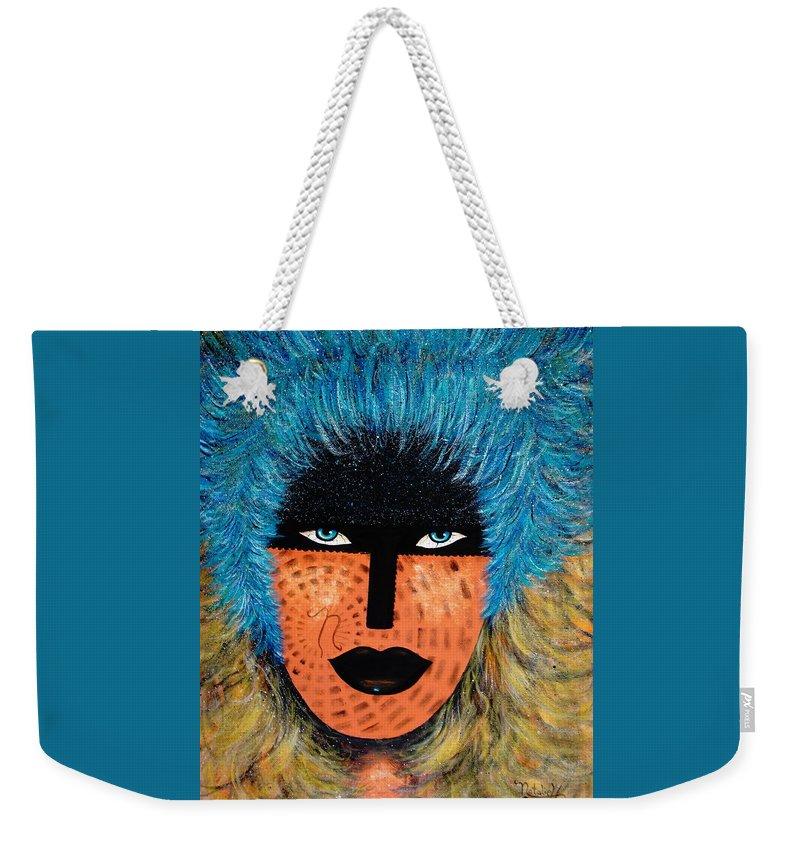 Woman Weekender Tote Bag featuring the painting Viva Niva by Natalie Holland