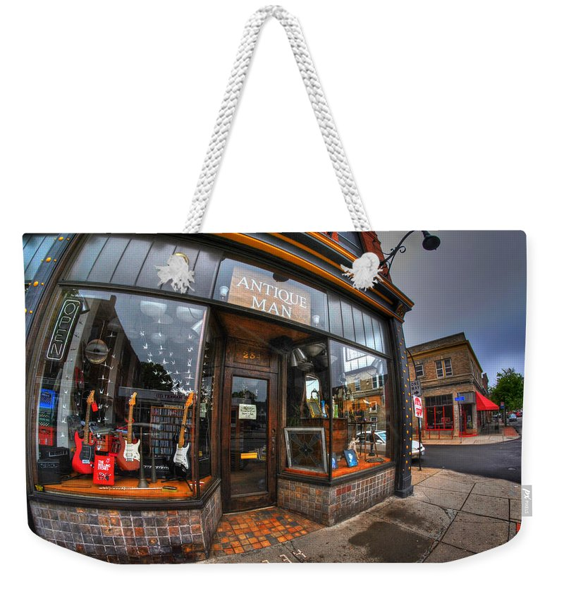 Allentown Weekender Tote Bag featuring the photograph 003 Antique Man by Michael Frank Jr