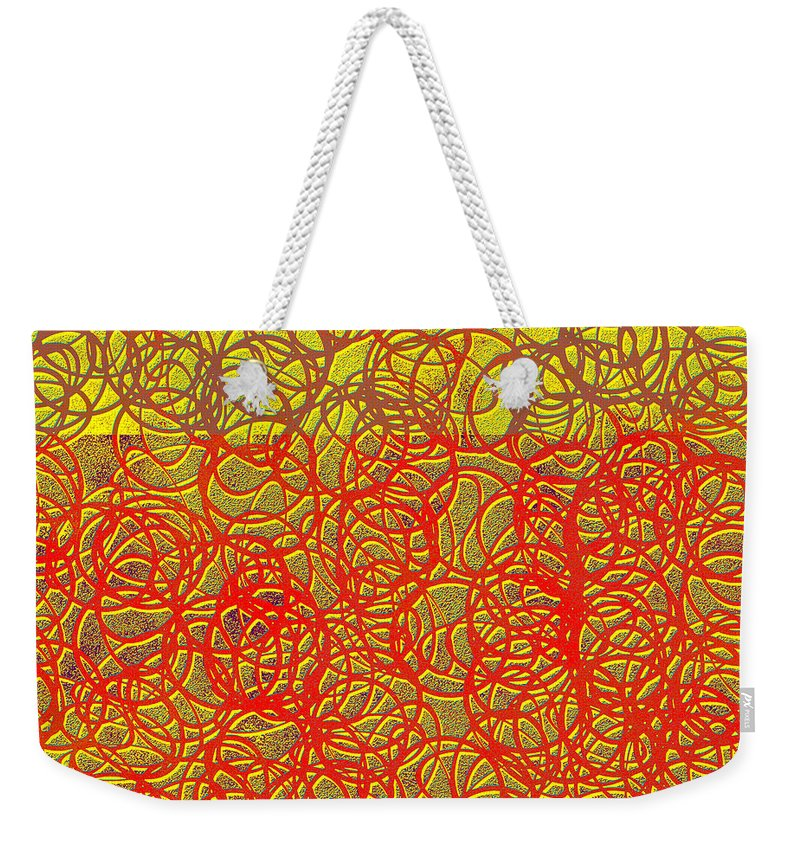 Abstract Weekender Tote Bag featuring the digital art 0124 Abstract Thought by Chowdary V Arikatla