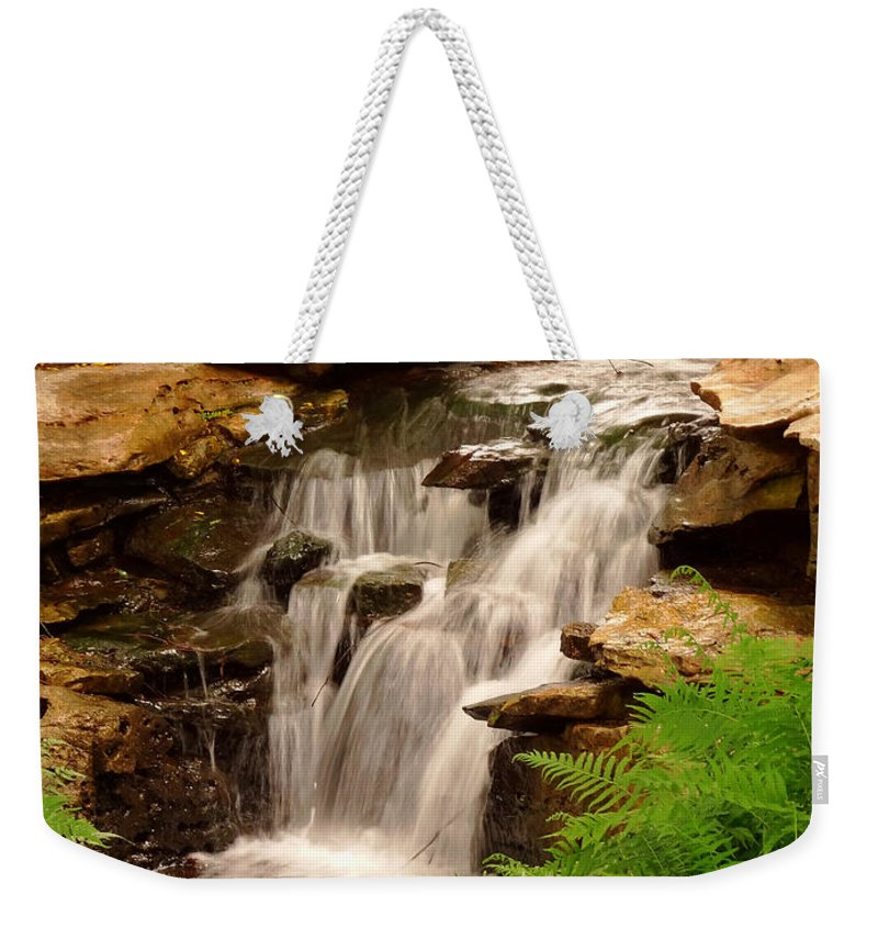 Waterfall Weekender Tote Bag featuring the photograph 0199 by Onyx Armstrong