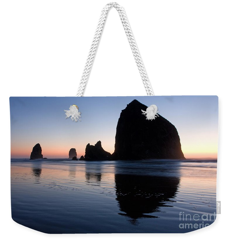 Cannon Weekender Tote Bag featuring the photograph 0213 Cannon Beach by Steve Sturgill