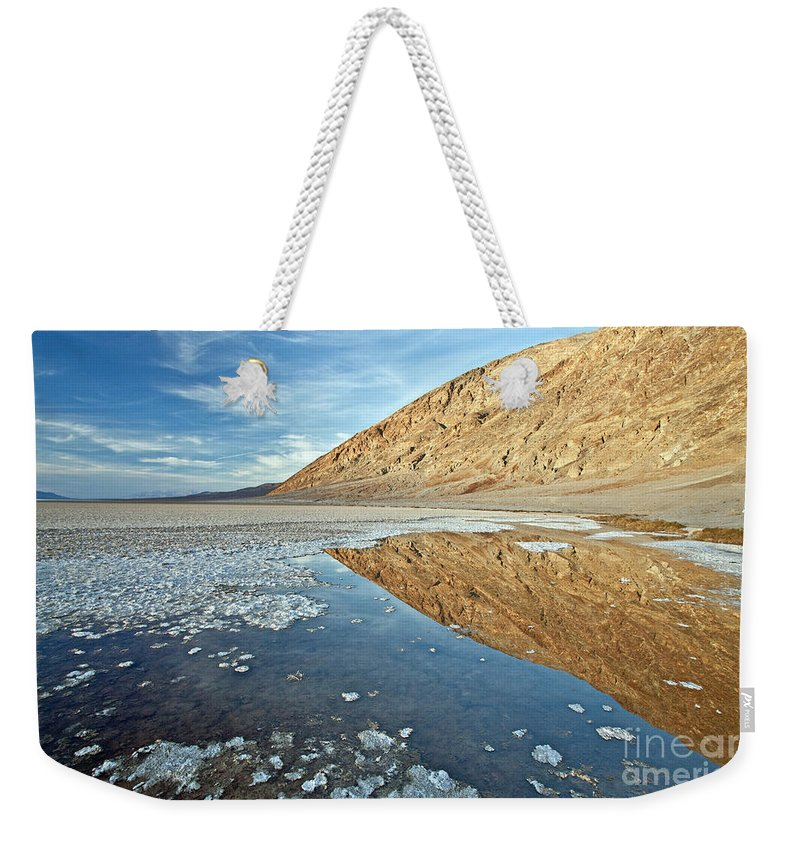 Bad Weekender Tote Bag featuring the photograph 0330 Badwater Basin by Steve Sturgill