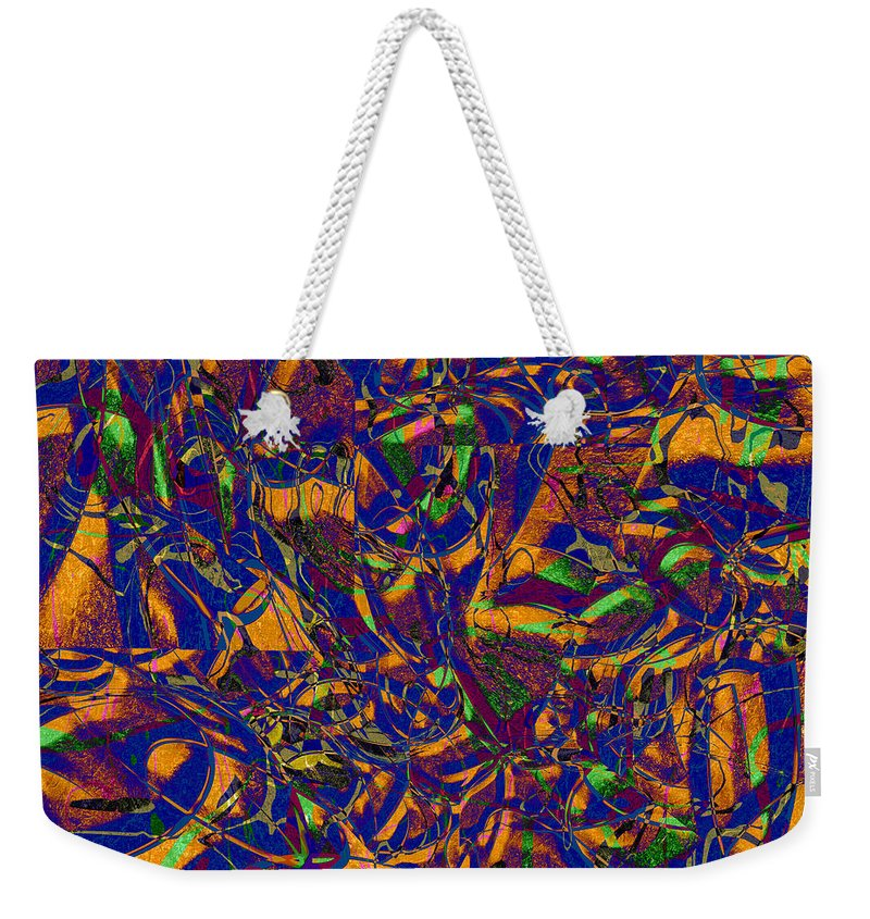 Abstract Weekender Tote Bag featuring the digital art 0630 Abstract Thought by Chowdary V Arikatla