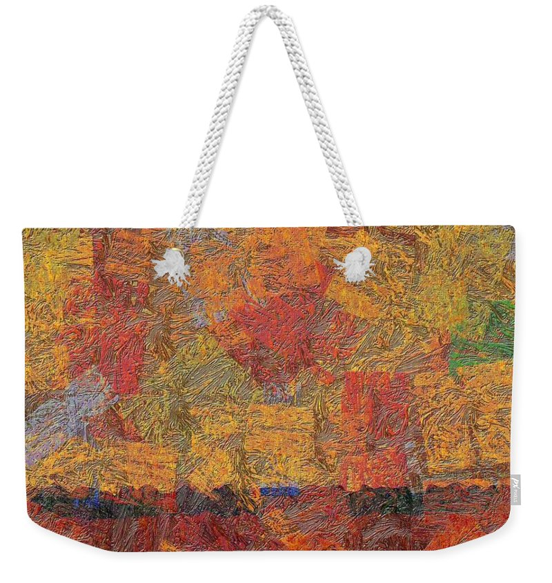 Abstract Weekender Tote Bag featuring the digital art 0774 Abstract Thought by Chowdary V Arikatla