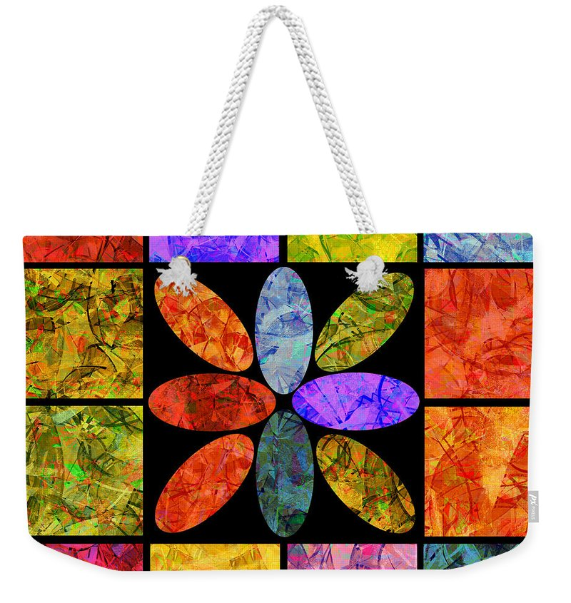 Abstract Weekender Tote Bag featuring the digital art 0804 Abstract Thought by Chowdary V Arikatla