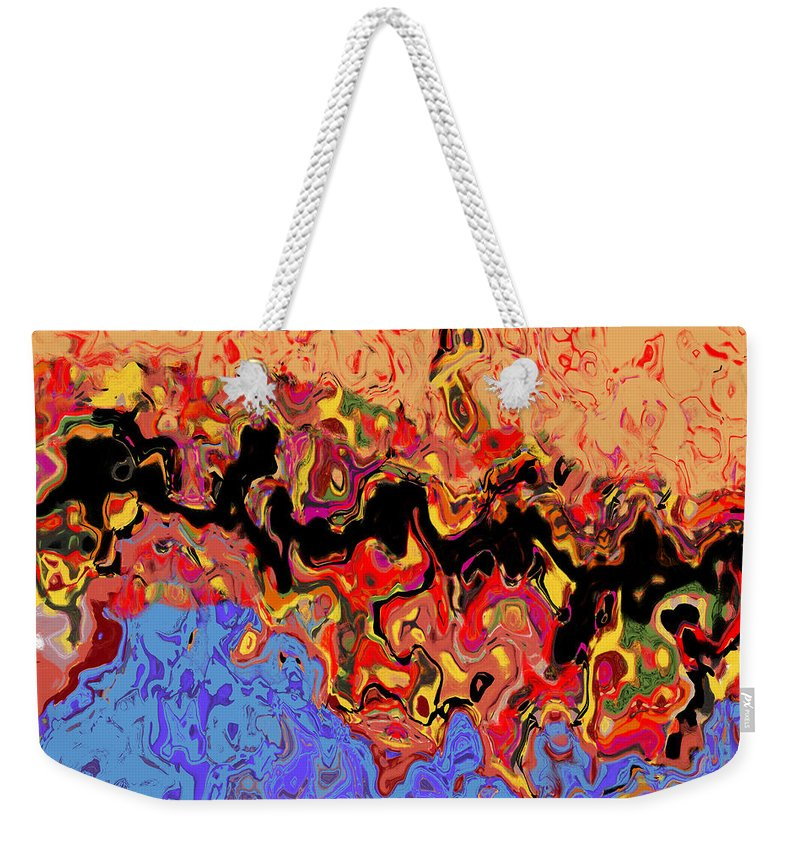 Abstract Digital Weekender Tote Bag featuring the digital art 0809 Abstract Thought by Chowdary V Arikatla