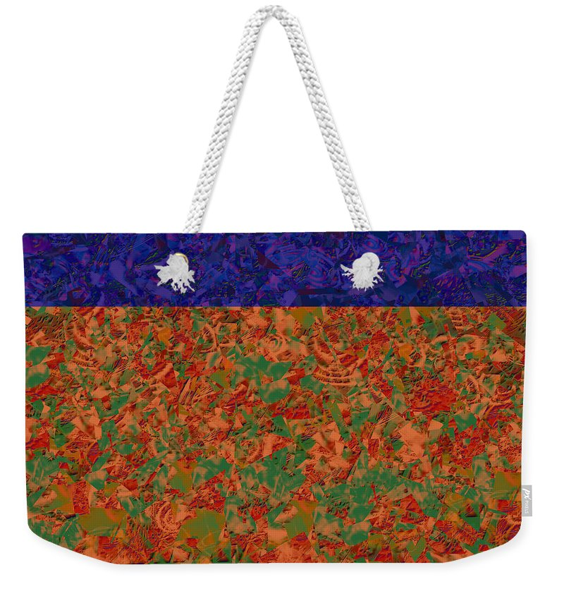 Abstract Weekender Tote Bag featuring the digital art 0834 Abstract Thought by Chowdary V Arikatla