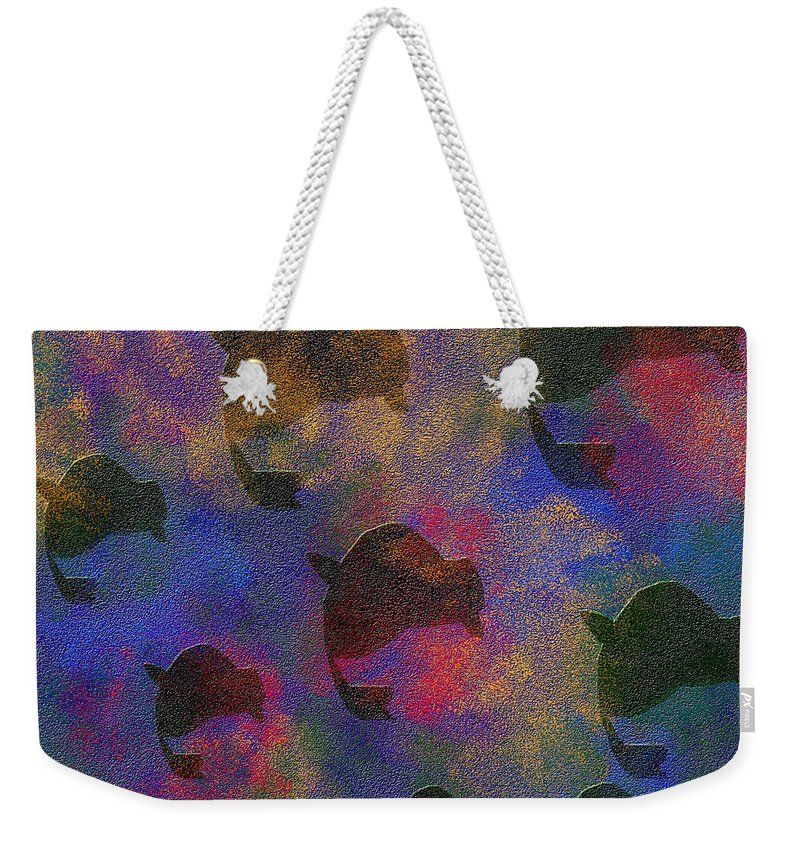 Abstract Weekender Tote Bag featuring the digital art 0885 Abstract Thought by Chowdary V Arikatla