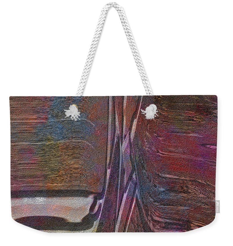 Abstract Weekender Tote Bag featuring the digital art 0922 Abstract Thought by Chowdary V Arikatla