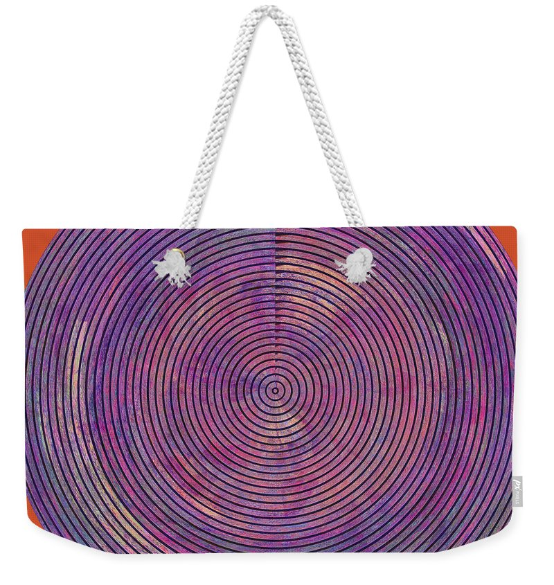 Abstract Weekender Tote Bag featuring the digital art 0965 Abstract Thought by Chowdary V Arikatla