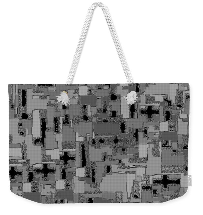 Abstract Weekender Tote Bag featuring the digital art 0992 Abstract Thought by Chowdary V Arikatla