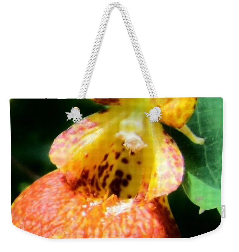 Spotted Jewelweed Weekender Tote Bag featuring the photograph Spotted Jewelweed by Eric Noa