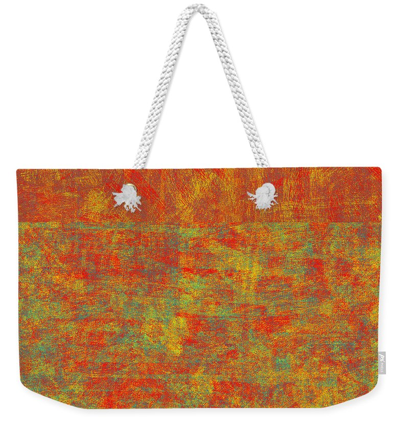 Abstract Weekender Tote Bag featuring the digital art 0313 Abstract Thought by Chowdary V Arikatla