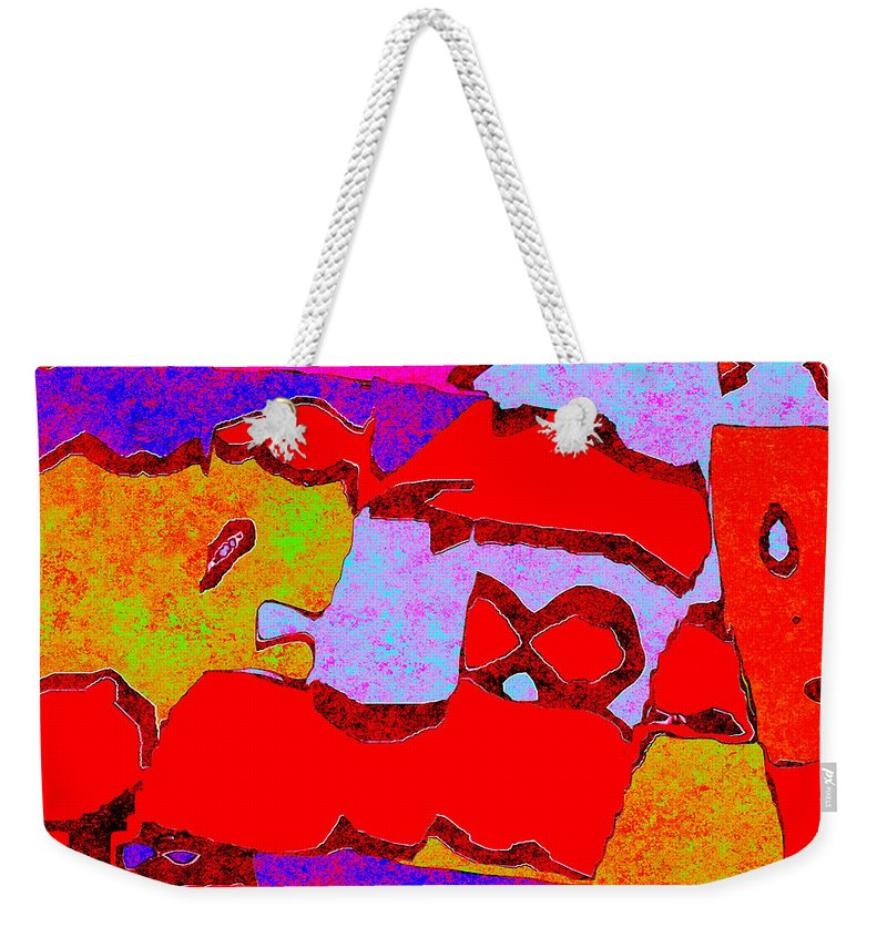 Abstract Weekender Tote Bag featuring the digital art 0319 Abstract Thought by Chowdary V Arikatla