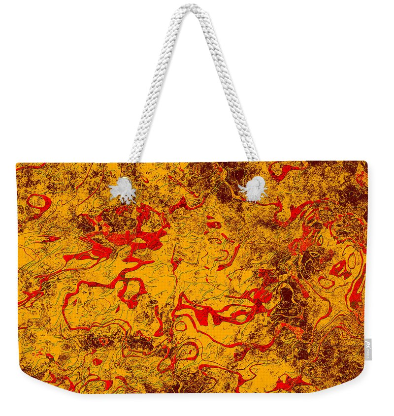 Abstract Weekender Tote Bag featuring the digital art 0503 Abstract Thought by Chowdary V Arikatla