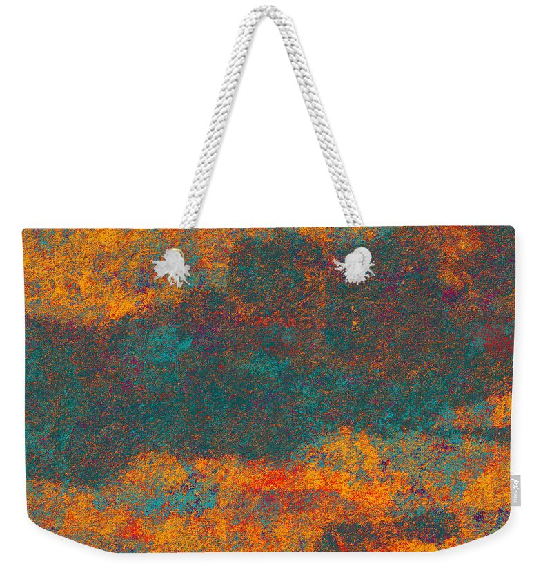 Abstract Weekender Tote Bag featuring the digital art 0510 Abstract Thought by Chowdary V Arikatla