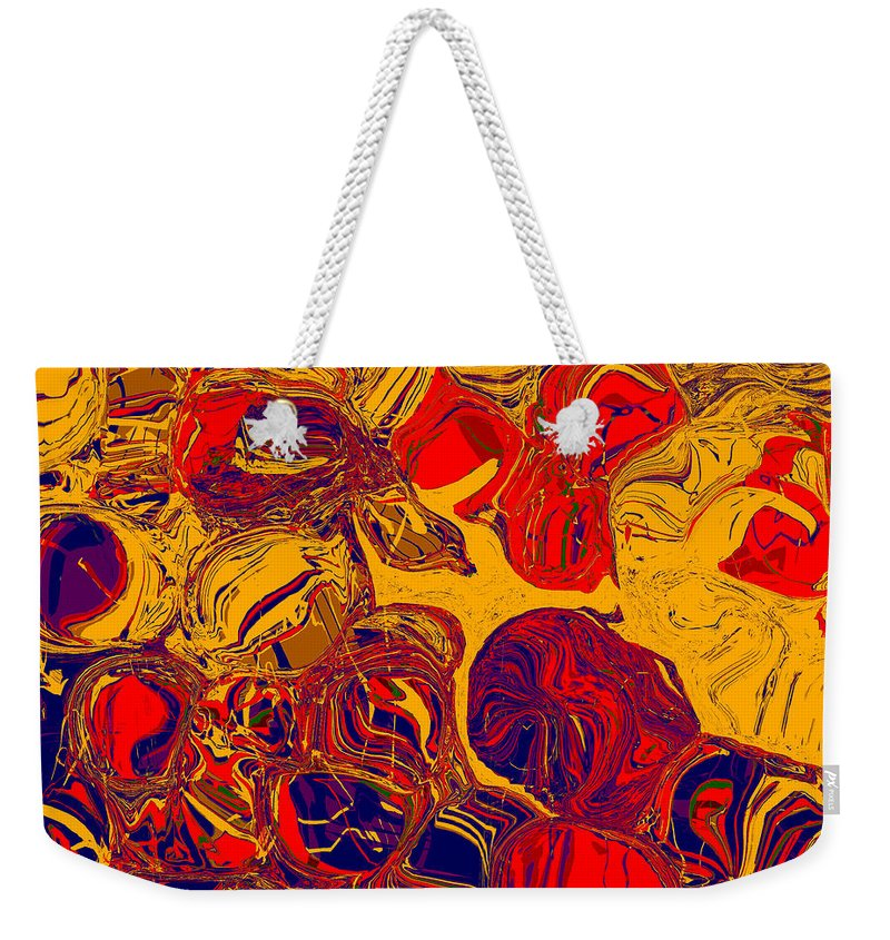 Abstract Weekender Tote Bag featuring the digital art 0576 Abstract Thought by Chowdary V Arikatla