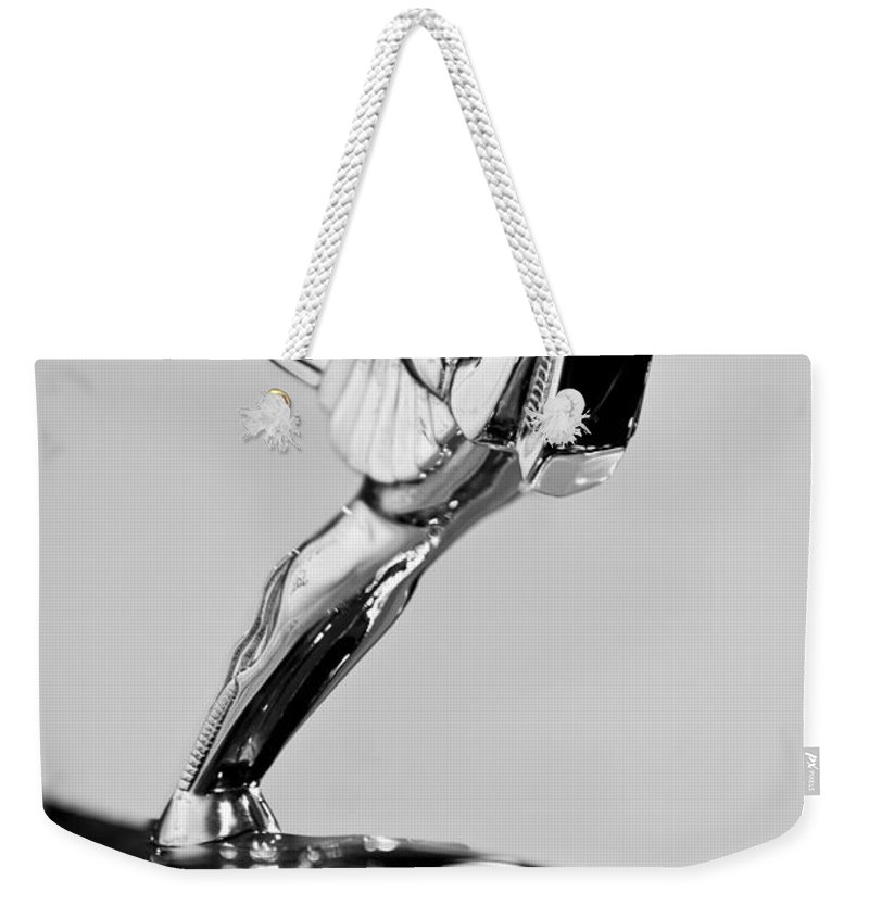 1931 Cord L-29 Legrande Speedster Hood Ornament Weekender Tote Bag featuring the photograph 1931 Cord L-29 Legrande Speedster Hood Ornament by Jill Reger