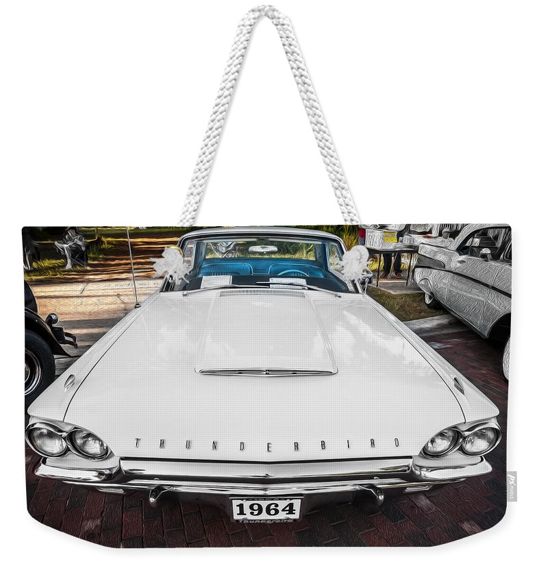 1964 Ford Thunderbird Weekender Tote Bag featuring the photograph 1964 Ford Thunderbird Painted by Rich Franco