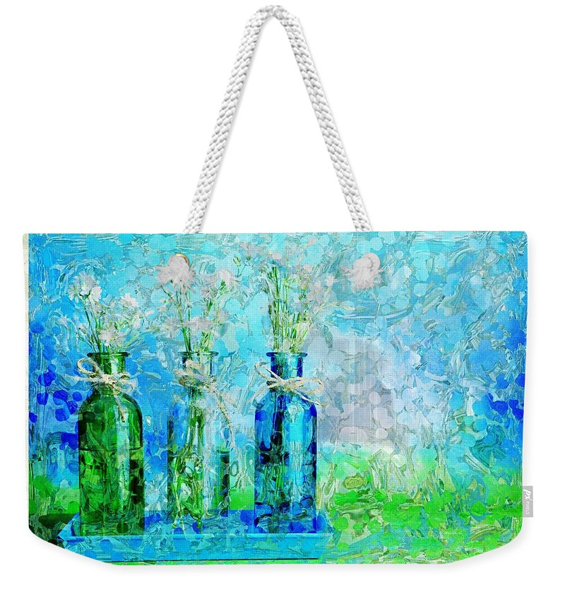 Bottles Weekender Tote Bag featuring the photograph 1-2-3 Bottles - S13ast by Variance Collections