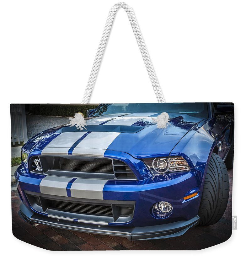 2013 Ford Mustang Weekender Tote Bag featuring the photograph 2013 Ford Mustang Shelby Gt 500 by Rich Franco