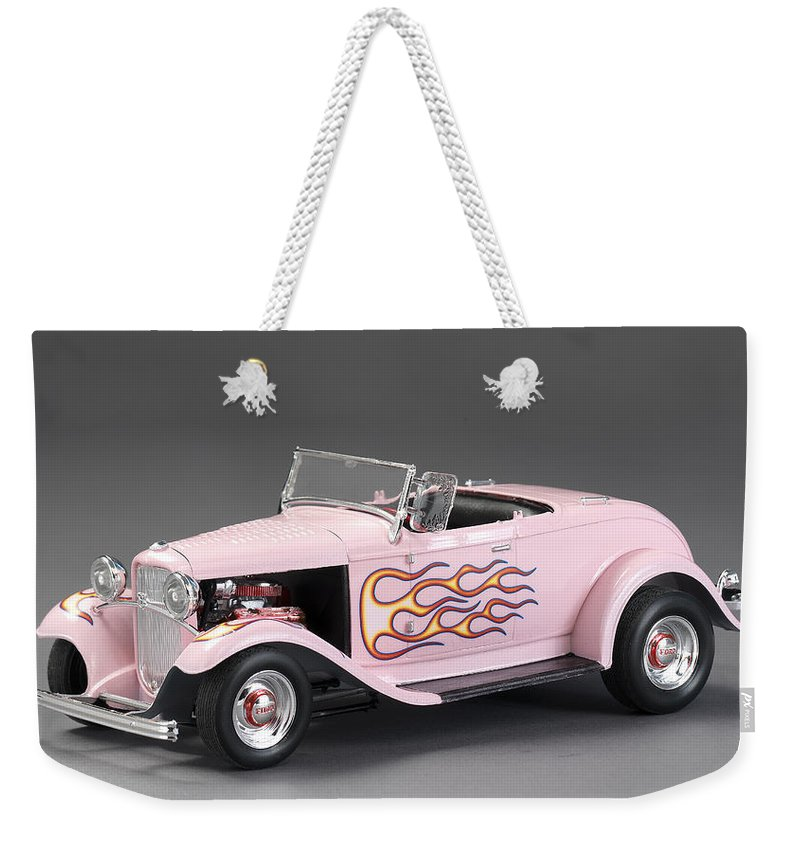 32 Ford Hot Rod Weekender Tote Bag featuring the photograph '32 Ford Hot Rod by Robert Mollett