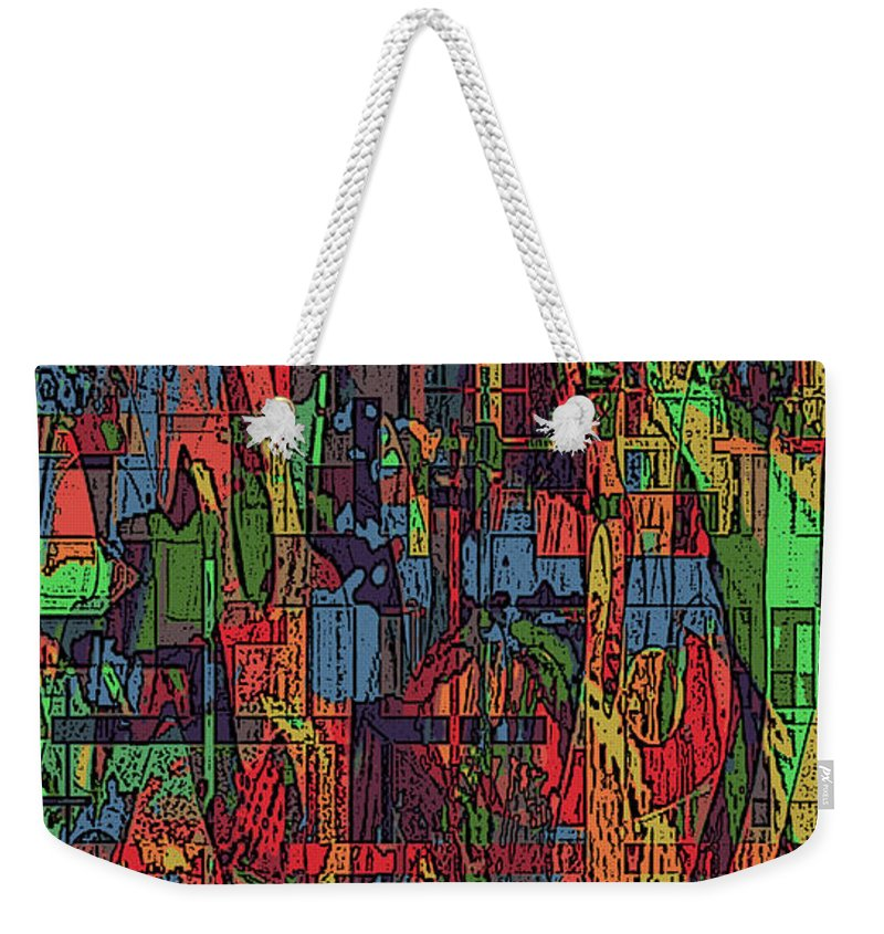 Abstract Weekender Tote Bag featuring the mixed media A Walk In The Woods by Kevin Caudill