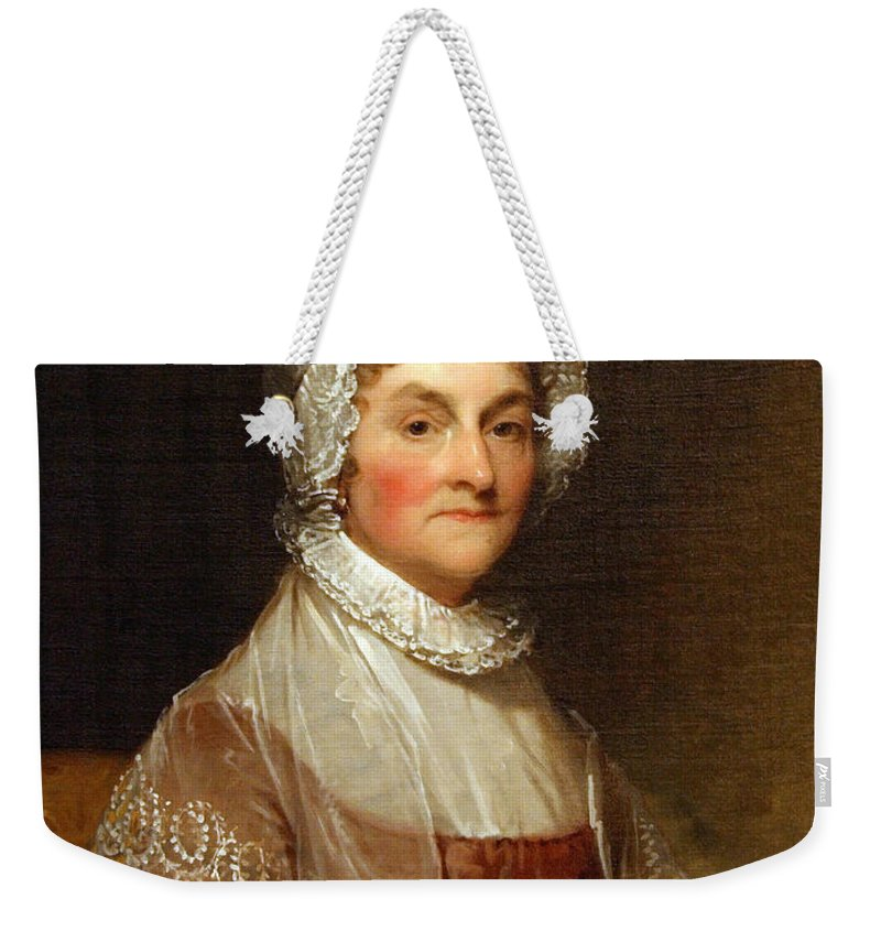 Abigail Smith Adams Weekender Tote Bag featuring the photograph Abigail Smith Adams By Gilbert Stuart by Cora Wandel