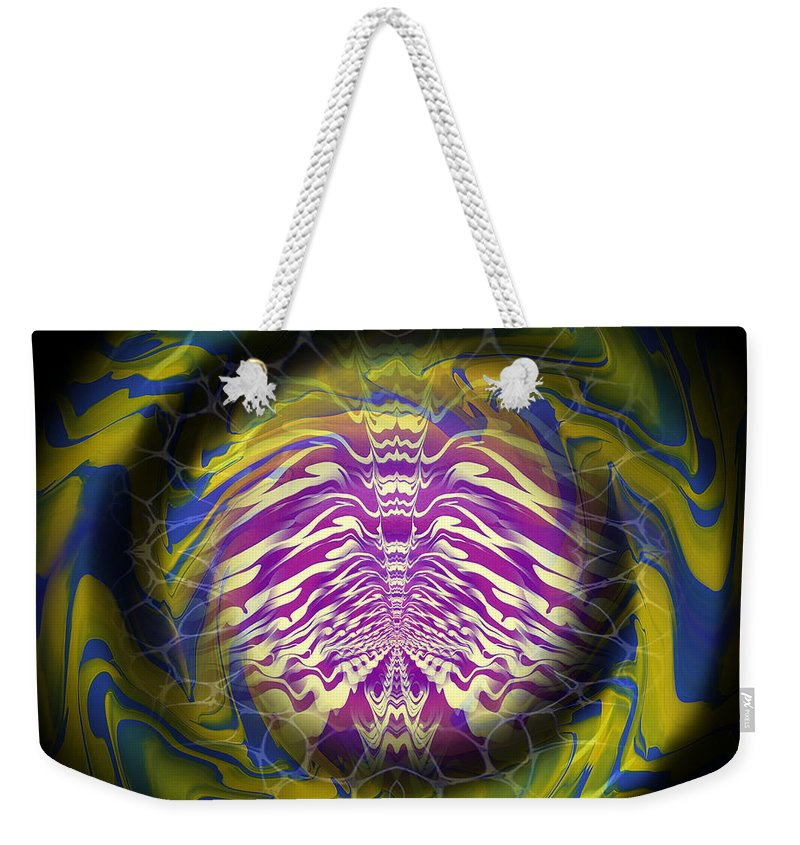 Original Weekender Tote Bag featuring the painting Abstract 141 by J D Owen