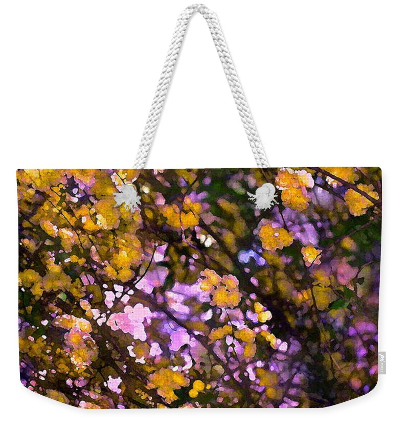 Abstract Weekender Tote Bag featuring the photograph Abstract 276 by Pamela Cooper