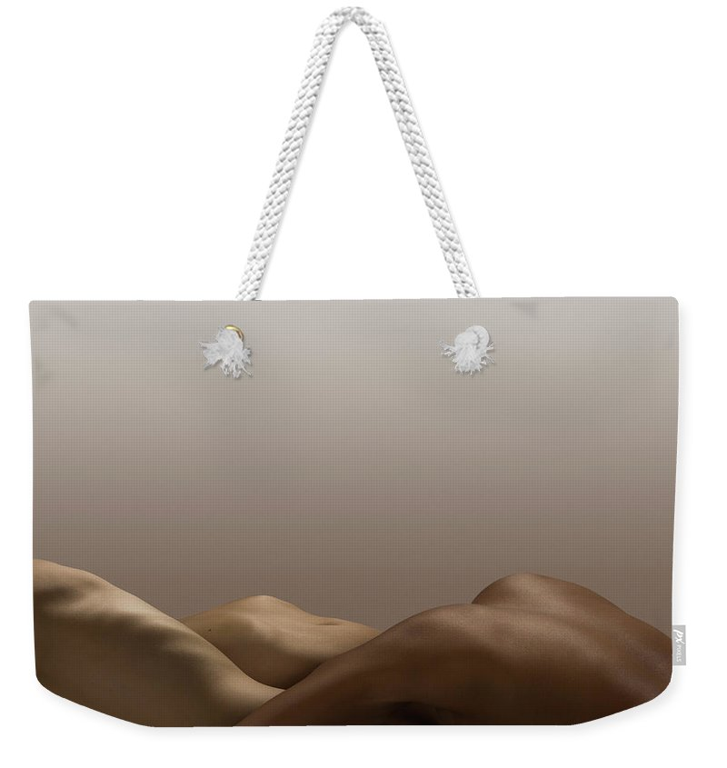 People Weekender Tote Bag featuring the photograph Abstract Nude Bodies, Different Skin by Jonathan Knowles