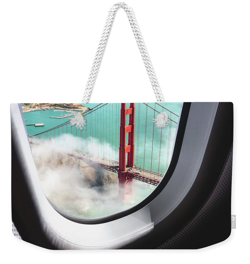 Scenics Weekender Tote Bag featuring the photograph Aerial View Of San Francisco Golden by Franckreporter