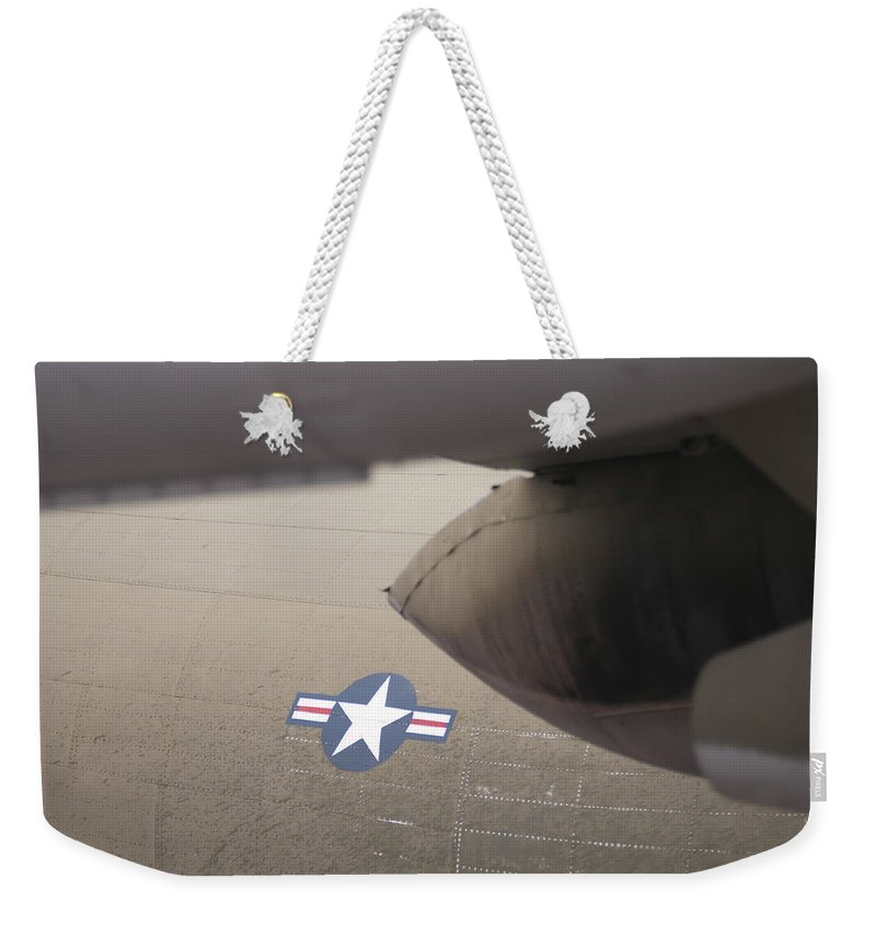 Action Weekender Tote Bag featuring the photograph Airplanes At The Airshow by Alex Grichenko