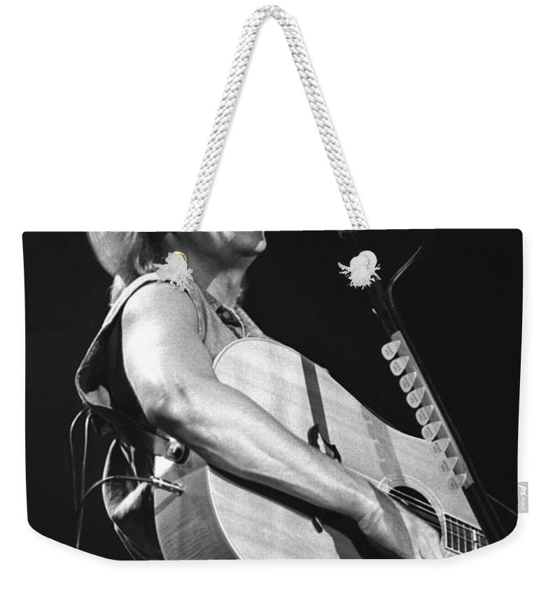 Country Music Star Weekender Tote Bag featuring the photograph Alan Jackson by Concert Photos