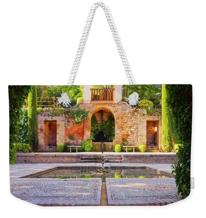 Vertical Weekender Tote Bag featuring the photograph Alhambra In Granada by Karol Kozlowski