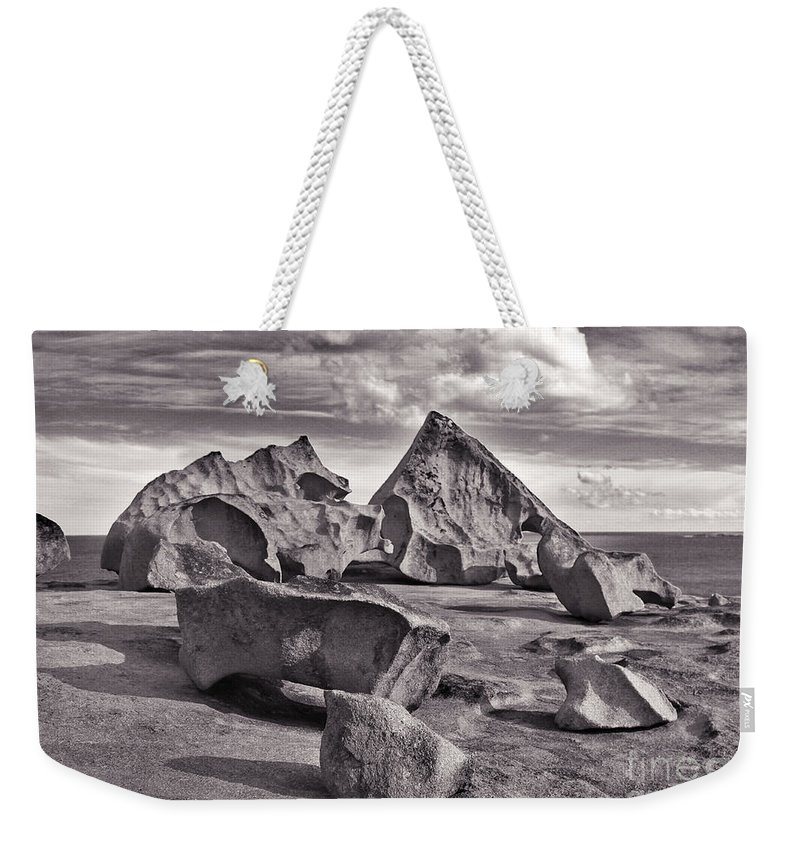 Rock Weekender Tote Bag featuring the photograph Alien Furniture by Stephen Mitchell