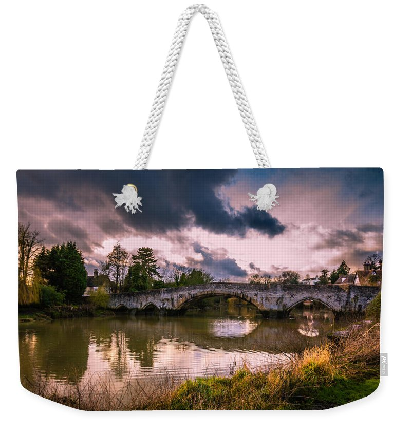 Bridge Weekender Tote Bag featuring the photograph Alyesford Bridge by Dawn OConnor