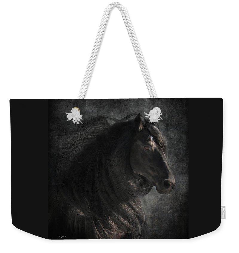 Weekender Tote Bag featuring the digital art Anton 343 by Fran J Scott