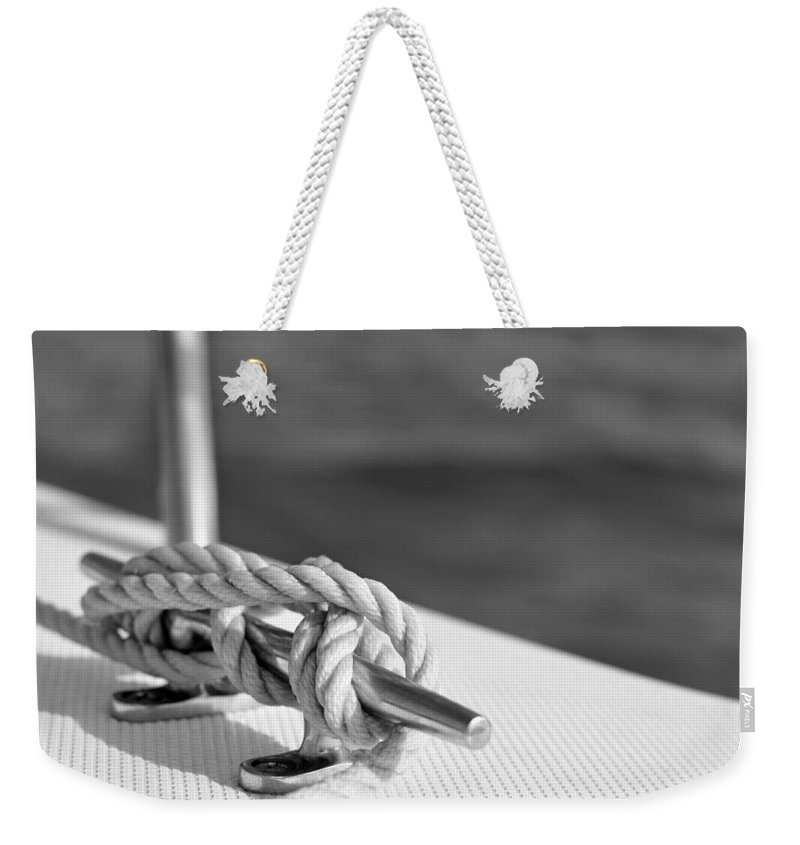 Laura Fasulo Weekender Tote Bag featuring the photograph At Sea by Laura Fasulo