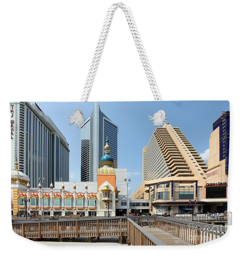 Aerial Weekender Tote Bag featuring the photograph Atlantic City by Bill Cobb