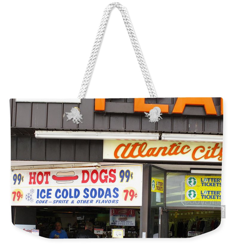 Ads Weekender Tote Bag featuring the photograph Atlantic City New Jersey - Boardwalk by Frank Romeo