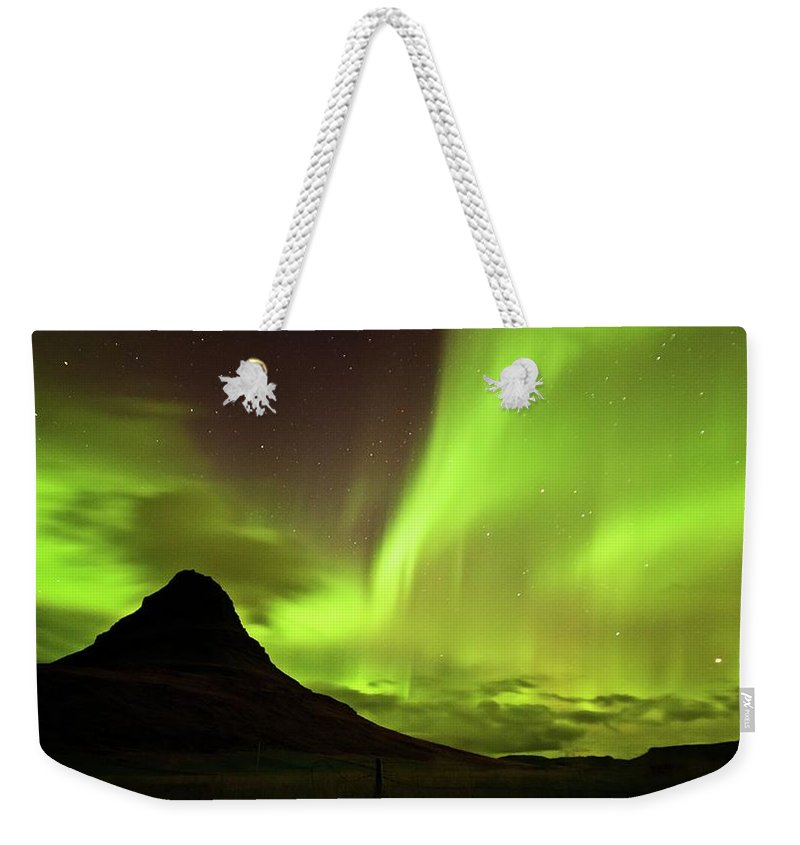 Scenics Weekender Tote Bag featuring the photograph Aurora Borealis by Geinis