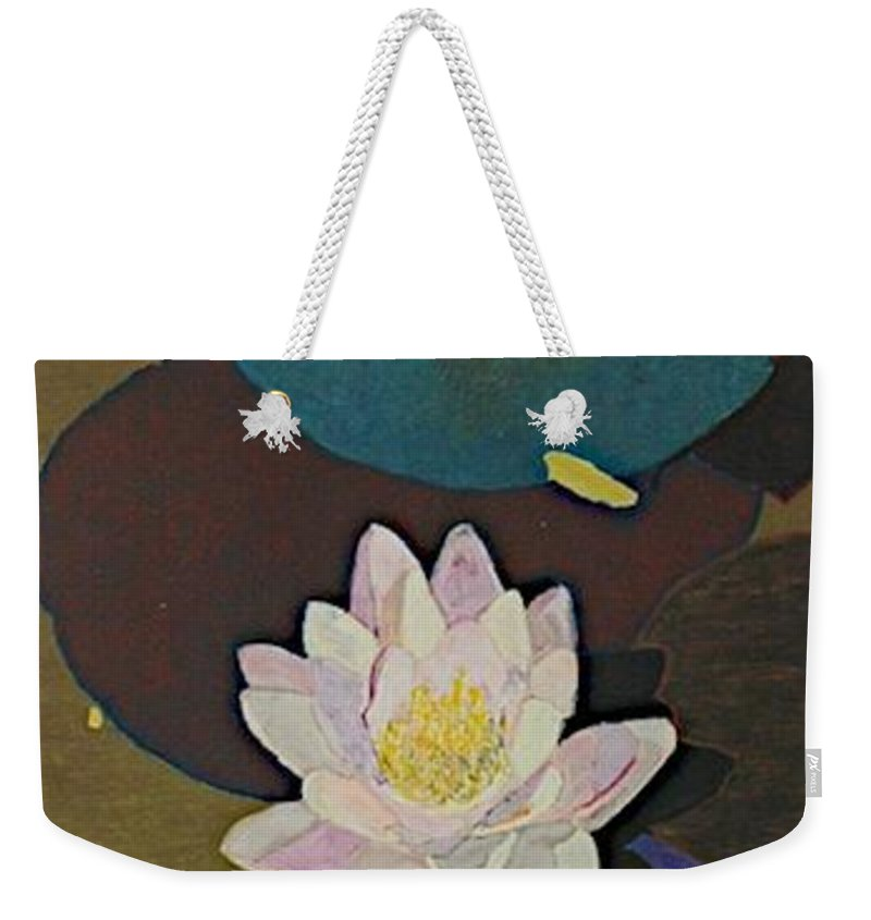 Landscape Weekender Tote Bag featuring the painting Autumn Lily by Allan P Friedlander