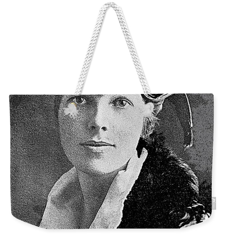 Aviator Amelia Earhardt No Date Weekender Tote Bag featuring the photograph Aviator Amelia Earhardt No Date-2010 by David Lee Guss