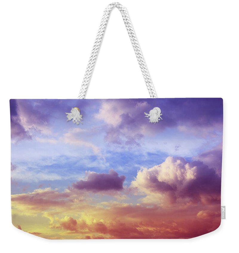 Scenics Weekender Tote Bag featuring the photograph Beautiful Sunset Cloudscape by Blackred