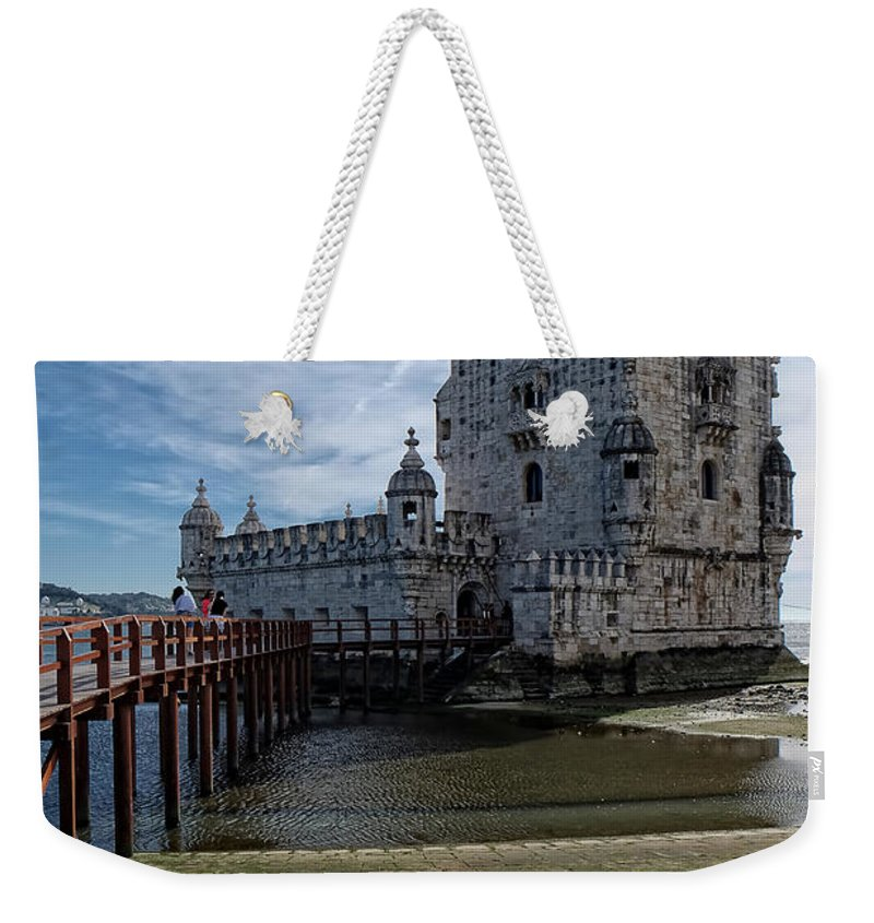 Lucinda Walter Weekender Tote Bag featuring the photograph Belem Tower by Lucinda Walter